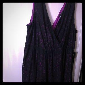 Black and purple lace dress